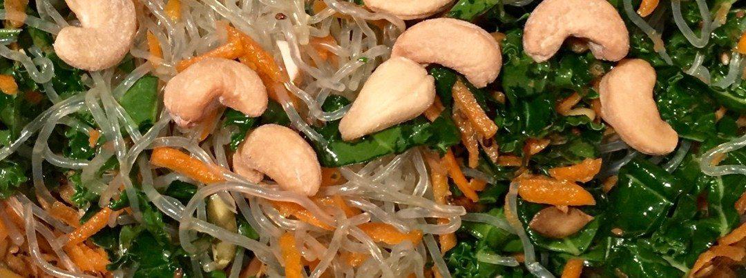 Kelp Noodle Salad with Massaged Kale